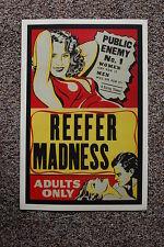 REEFER MADNESS Lobby Card Movie Poster Marajuana propaganda
