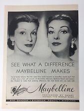 Original Print Ad 1952 MABELLINE Vintage Artwork Before and After Artwork
