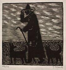 Gerhard Marcks - Schäfer mit Hunden - Holzschnitt  - 1957 - 45/50