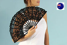 Women lady Retro bride dance black Lace Spanish Party Fancy Costume Folding Fans