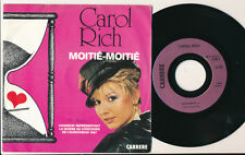 "EUROVISION 1987 45 TOURS 7"" FRANCE CAROL RICH MOITIE-MOITIE"