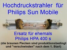 4 x Hochdruckbrenner als Ersatz Philips HPA 400S, HPA400s, HPA 400 s, Sun-Mobile