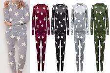 Wholesale Price Womens Ladies Star Prints Lounge wear suit Tracksuits UK 8-26