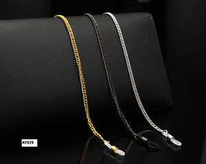 Glasses Neck Chain Cord Lanyard Gold Silver Gun Retainer Spectacles Sunglasses
