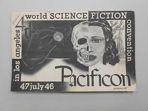 """FIRST FANDOM! 1946 4th World Science Fiction """"Pacificon"""" PROGRAM! 40 SIGNATURES!"""