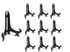 """Fashionclubs 3 Black 10pcs Plastic Easels Plate Display Stands Picture Frame"""""""