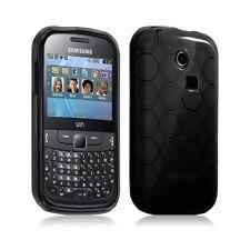 Housse étui coque hydro gel translucide pour Samsung Chat 335 S3550 couleur noir