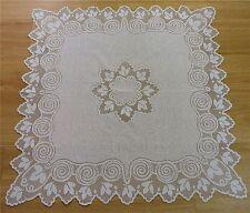 Tischdecken Jacquard Raschel 80*80cm Mitteldecke weiß Zierdecke Tischdecke