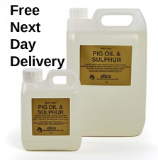 Gold Label Pig Oil and Sulphur 1L, 5L (Horse, Pony, Mud Fever, Equestrian)
