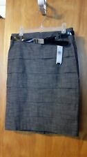 Juniors A. BYER Gray Straight Above the knee Pleated Skirt Back Zip 5