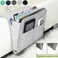Bedside Storage Organizer Bag Caddy Pocket Bed Phone Book Holder Hanging Sofa
