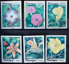 NICARAGUA 1985 TROPICAL FLOWER STAMPS Used