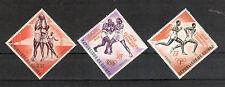 Guinea Michelnummer 211 - 213 b postfrisch ( Übersee : 682 ) mit orange Aufdruck