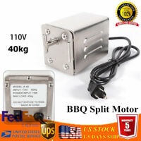 Electric BBQ Spit Motor Stainless Steel Rotisserie Roaster Goat Pig Chicken