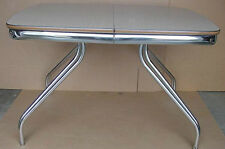 New listing vintage 1950's 60's formica & chrome kitchen table space age atomic age