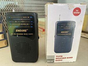 Vintage Encore Handheld Radio 4 Band Receiver FM AM TV Weather