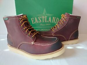 Eastland Lumber Up Leather Boot Mens 12 D/M Oxblood Red Moc-Toe Work $125