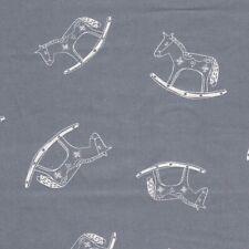 Noël Tissu - John Louden - Scandi Calicot - Cheval à Bascule - Bleu Gris