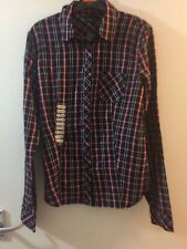 AX Armani Exchange Black Plaid Buttoned Shirt Size Xs BNWT