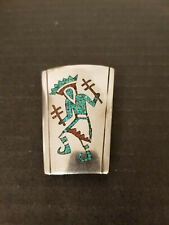 Inlay Kachina Bolo Tie Vintage Native American Sterling Turquoise