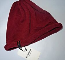 Ben Sherman red knit winter Hat cap Burgundy one size b0c0231b628