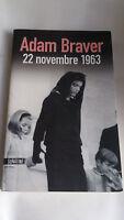 Adam Braver - 22 novembre 1963 - Editions Sonatine - Thriller - Livre - Occasion