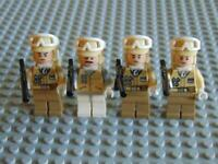 4 x Genuine Lego Star Wars Mini Figures (3 x Hoth Rebel Troopers + 1 x Officer)