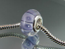 925 SILVER STAMPED MURANO GLASS BEAD FOR EUROPEAN STYLE CHARM BRACELETS #DC 126