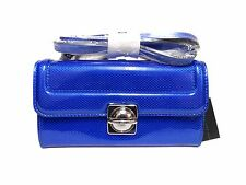 NWT Marc Jacobs Crossbody Top Schooly Reflector Grace Patent Leather Blue Bag