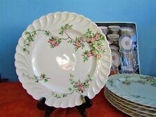 6 Platos Llanos Porcelana de Limoges De Haviland Modelo Eglantina Trenza