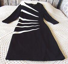 Black & cream formal dress by ROMAN Size 12