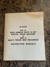 Alesis Hr-16 Drum Machine & Mmt-8 Midi Recorder Instruction Manual