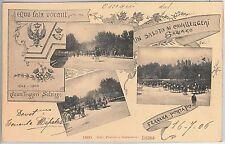 CARTOLINA d'Epoca FERRARA : Porta Po  REGGIMENTALI: Cavalleggeri di SALUZZO 1906