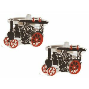 Traction Engine Cufflinks by Dalaco - Gift Boxed - High Quality - Steam Vintage