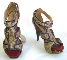 CARMEN STEFFENS - Sandalias tacones 10.5 cm + plataforma piel marrón ciruela 37