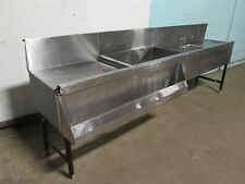 """""""Perlick Ts48Hs"""" Commercial Ss Bartender Station w/Ice Bin/Wash Sink/Speed Rail"""