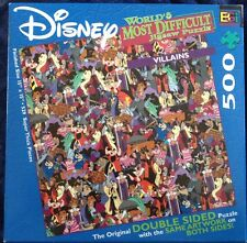 Buffalo Games Disney World's Most Difficult Jigsaw Puzzle ~Villains Double Sided