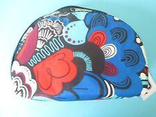 NEW LESPORTSAC Medium Dome Top Zip Cosmetic Make Up Bag Swoop Dee Doo Red Blue