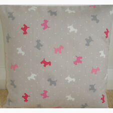 "Westie Dogs 16"" Cushion Cover Red Pink Grey 16x16 Alfie Terrier Scottie Dog"