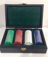 Fichas de póker clay 100 En Estuche De Cuero-Nuevo y Sellado