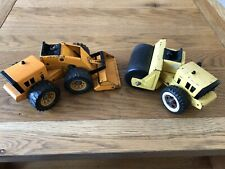 Vintage Tonka vehicles - Road Roller and Loader -  Pressed Steel 1970s Toy