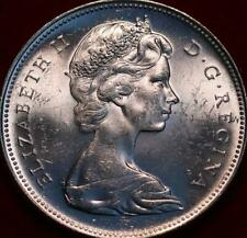 Uncirculated 1966 Canada Silver One Dollar Foreign Coin