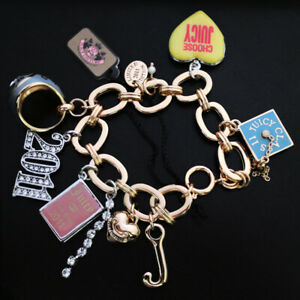 NWT JUICY COUTURE Bracelet LIMITED 2011 Graduation Ring Locket 8  Mix Charms NEW