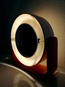 Vintage USSR Space Age Two side BIG Mirror with lighting Desk Mirror.Rare!!!