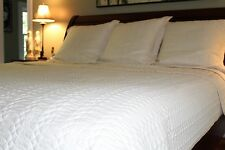 The Company Store King Bedspread Quilt Coverlet and 3 Euro Sham Covers