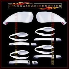 For NISSAN Altima 2013 Chrome Covers FULL Mirrors+4 Doors Smart+Door BOWL PLATES