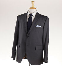 NWT $1375 LUIGI BIANCHI MANTOVA Medium Gray Striped Wool Suit Slim 44 R (Eu 54)