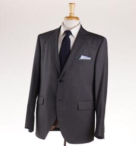 NWT $1375 LUIGI BIANCHI MANTOVA Medium Gray Striped Wool Suit Slim 44 R (Eu 54)