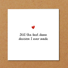 ANNIVERSARY CARD - birthday valentines - wife husband - love romantic heart sexy