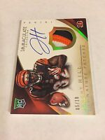 2014 PANINI IMMACULATE GOLD SIGNATURE 3 CLR PATCH ROOKIE JEREMY HILL AUTO RC /10